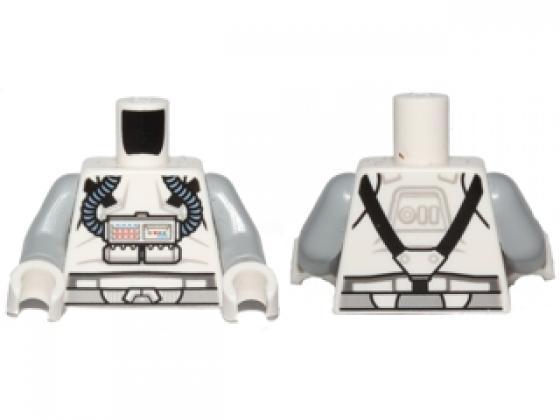 Lego Light Bluish Gray Minifig Torso w// Light Bluish Gray Arms NEW