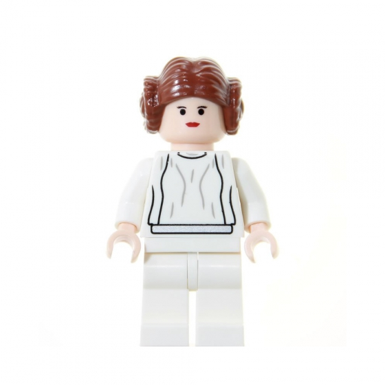 Reddish Brown LEGO Star Wars Minifig Headgear Hair w// 2 Buns Princess Leia
